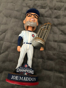 Chicago CUBS Joe Maddon 2016 World Series Champions Bobblehead Used