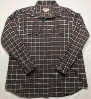 5267 WOOLRICH Mens XLarge Button Up Down Shirt Plaid Checks Flannel Long Sleeve