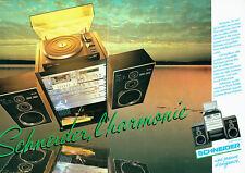 Publicité Advertising 028  1980   Schneider (2p)chaine hi-fi harmonie  slim Line