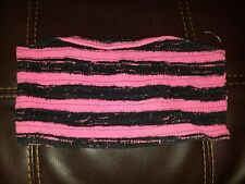 Womens No Boundaries Size Large 11-13 Bandeau Top Pink & Black Cute