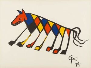 Alexander Calder Beastie Lithograph Print From The Flying Colours Collection