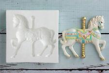 Stampo in silicone, Carousel Cavallo, Pony, Battesimo, ellam Sugarcraft m0178