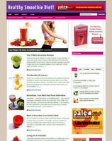 HEALTHY SMOOTHIE DIET WEBSITE WITH AFFILIATE OPTIONS + DOMAIN