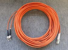 Orange 15M Fibre Optic Multi-Mode OM2 Patch Lead Cable ST Male To LC Male