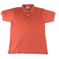 Mens Lacoste Polo Shirt Orange Size 2 XS X Small Extra T shirt Golf