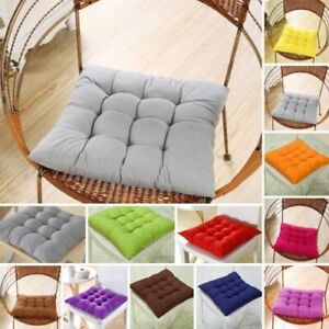 1-4x Chair Seat Pads Garden Furniture Dining Patio Outdoor Tie On Cushions Thick