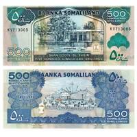 Pick 6h Somaliland 500 Shillings 2011  Unc. /465389vvv