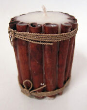 10 cm high CANDLE with fragrant CINNAMON STICKS decoration on the outside new