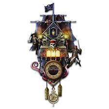 Disney Pirates Of The Caribbean Illuminated Cuckoo Clock by Bradford Exchange