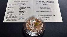 Transnistria Moldova 2016 10 rubles The Green Woodpecker Series: Red Book