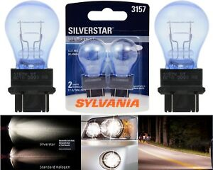 Sylvania Silverstar 3157 26.9/8.3W Two Bulbs Rear Turn Signal Replace Upgrade OE