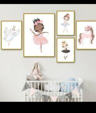 Girls Unicorn Bedroom nordic poster size A4 UK