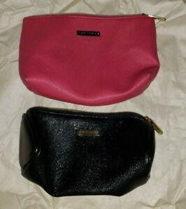 2 Bare Minerals Makeup Bags Zipper Pouch Cosmetics Case Travel Bag Pink & Black