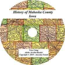 1906 History & Genealogy of MAHASKA COUNTY IOWA Oskaloosa IA Biographies Family