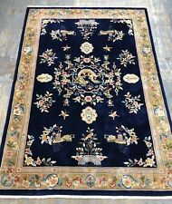 Wonderful Old Handmade Vintage Chinese Rug 10.3x7.1 Ft