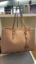 Michael Kors Tan Saffiano Jet Set Tote Shoulder Bag Purse wfd