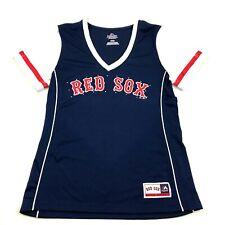 NEW Majestic Fan Fashion Boston Red SOX Dry Fit Shirt Women's Size M Rhinestones