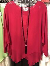 STERLING STYLES - Butterfly hem TOP in FUCHSIA   - O/S - (4-to-20)  NWT $129.00