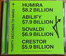 Thirty Seconds To Mars Signed Cd Jared Leto Autographed Cd America -Batman Joker