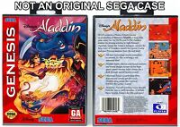 Aladdin - Sega Genesis Custom Case *NO GAME*