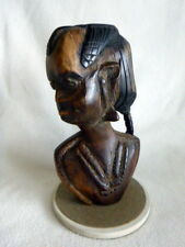 African Young Female Wood Carving Blackwood c.1970s