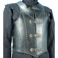Black Leather Armour Medieval Garb Larp Renaissance Theater Steampunk Costume