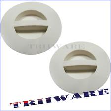 2x Pull Plug 50mm White Tub Seals Bath Rim Tap Sink Waste Basin Kinetic
