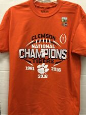CLEMSON TIGERS 2018 NATIONAL CHAMPION ORANGE SS ONE SIDED TEE 3XL