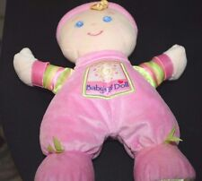 Fisher Price Doll w/ Rattle Lovey Plush Pink Doll Infant Baby -V V