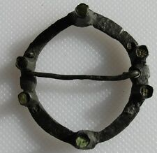 Medieval c.1200-1400 Copper Alloy Annular Brooch With Pin