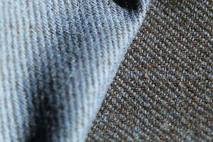 Pendleton Blue and Black double sided wool fabric by the yard