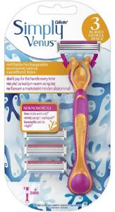 Gillette Venus Simply Women Starter Pack Razor with 3 Blades -100% Genuine