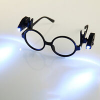 Universal Adjustable LED Glass Eyeglass Clip On Mini Book Reading Light Lamp  Qs