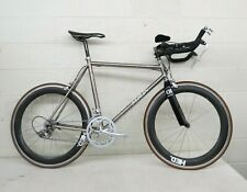 "Merlin Aerial 20"" C-C Titanium 20-Speed Triathlon Bike HED Carbon Wheels Ultegra"