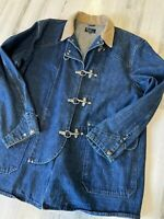 Vintage Polo Ralph Lauren Fireman Clasp Chore Jacket Size XL Made in USA