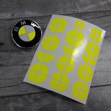 BMW Emblem Logo Aufkleber Ecken 1er 3er 4er M3 X1 X3 X5 neon gelb