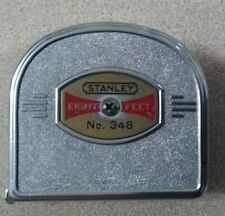 Vintage Collectible Stanley No. 348 Eight Foot Measuring Tape Ruler Tool U.S.A