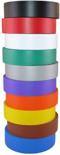 """New listing Electrical Tape Assorted Matte Rainbow Colors 3/4"""" x 60 Ft x 7 Mil - Pack of 10"""