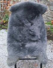Riesiges Lammfell   Schafsfell 140x80 cm Monstergroß Lambskin waschbar grau