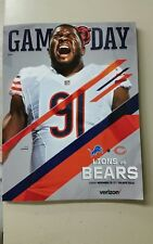 Chicago Bears 2017 Game Day Program Week 11 VS Detriot Lions Eddie Goldman