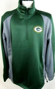 Green Bay Packers Mens Large 1/4 Zip Pullover Performance Jacket APAC 278
