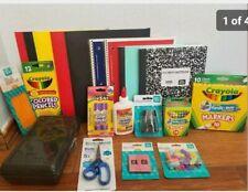 Back to School Essentials Supplies Kit Bundle Lot Grades K-8 Notebooks Pens ect.