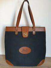 Vintage CELINE PARIS Horse Carriage Tote Bag Canvas & Leather Made in France
