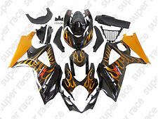 Hot Fire Gold Black Fairing Bodywork Injection Kits For 07-08 Suzuki GSXR1000 K7