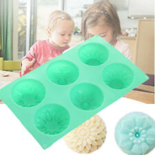 Flower Shaped Silicone DIY Handmade Cake Mold Supplies Mould Random Color
