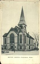 Roslindale MA Church c1910 Postcard