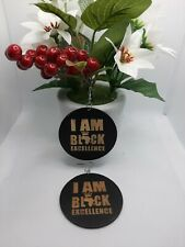 African wooden earring|Stylish I'm Black Excellence wooden earring|6cm