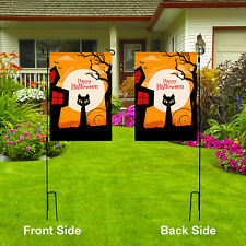"Happy Halloween Double Side Garden Flag Holiday Yard Lawn Party Decor, 12"" x 18"""