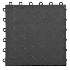 Speedway Garage Tile Mfg. Black Garage Floor Tiles - Diamond plate