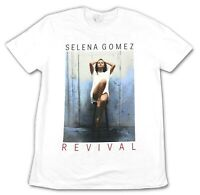 Selena Gomez Revival 2016 Barstool World Tour White T Shirt New Official Merch